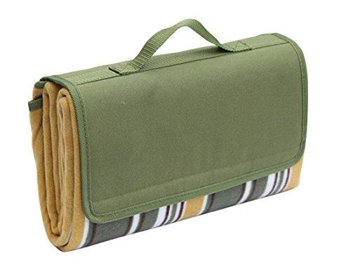 Honeystore Flanell Wasserdichte Yoga Matte Picknickdecke Mit Tragegriff Grün 130*170 CM