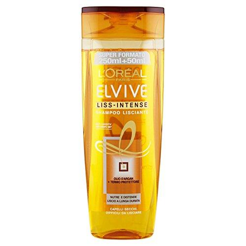 L \'Oréal Paris Elvive liss-intense Shampoo eléctrico alisador para pelo Cubos difficili alisadora de, 300ml
