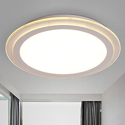 KHSKX A modern, minimalist, round LED ceiling lamp creative slim living room bedroom study decorative (Lampadario Decorativo Hardware Kit)