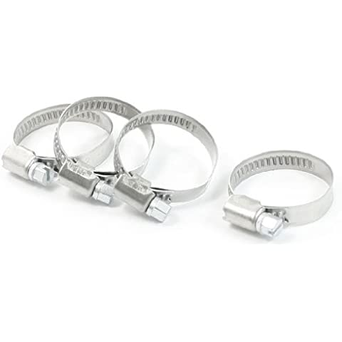 a13061300ux0299 gusano de acero inoxidable engranaje abrazadera de la manguera (4 piezas), 9mm / 21mm a 38mm