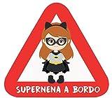 Haberdashery Online Pegatina Adhesiva Bebé a Bordo. Adhesivo vinilo para coche o moto. 16 x 14'5 cm. (32. Supernen Batgirl)