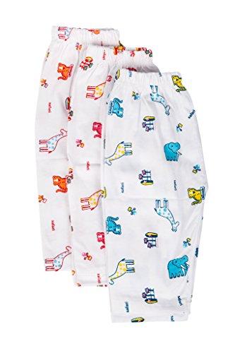Pack of 3,Multicolor (3-9 months) Baby Joy Hosiery Cotton Full length Pant/Pyjama/Leggings -Multi Cute Prints