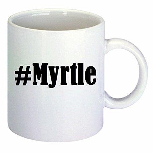 Kaffeetasse #Myrtle Hashtag Raute Keramik Höhe 9,5cm ? 8cm in Weiß