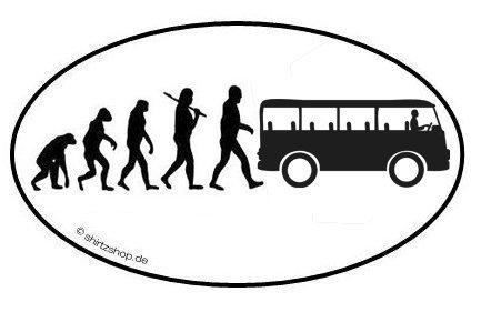 Preisvergleich Produktbild BUSFAHRER Bus Straßenbahn EVOLUTION Aufkleber Autoaufkleber Sticker