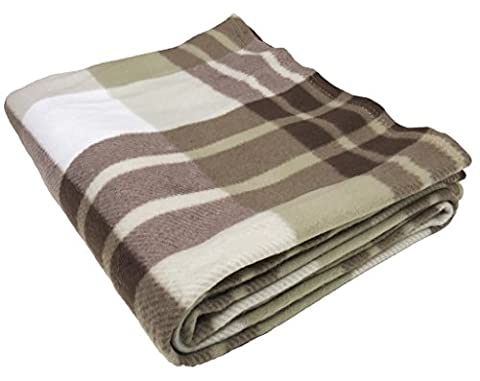 Soft Warm Tartan Check Fleece Throw Sofa Home Bed Travel