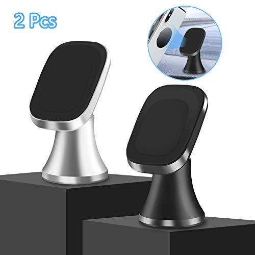 Viedouce 2 packs supporto auto smartphone magnetico universale,360 gradi di rotazione porta cellulare auto,supporto magnetico da auto per iphone (stlye-01)