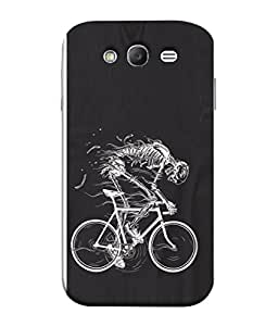 PrintVisa Designer Back Case Cover for Samsung Galaxy Grand I9082 :: Samsung Galaxy Grand Z I9082Z :: Samsung Galaxy Grand Duos I9080 I9082 (Black&White Race Cycle Poster Fear Skeleton)
