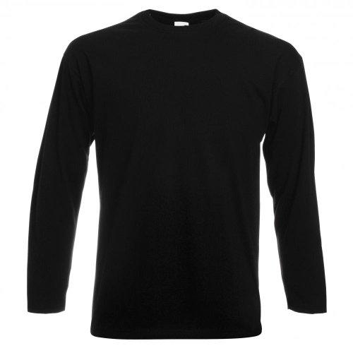 Fruit of the Loom Langarm T-Shirt 61-038-0 Gr. S, schwarz - schwarz (Schwarz Langarm-t-shirt)