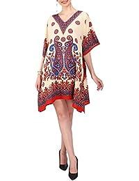 Miss Lavish London Mujer Kaftan Túnico Kimono Estilo Más tamaño Vestido para Loungewear Vacaciones Ropa de