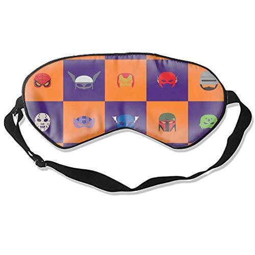 Schlafaugenmasken mit abstraktem Halloween-Druck, verstellbarer Riemen