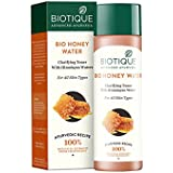 Biotique Bio Honey Water Clarifying Toner with Himalayan Waters for All Skin Types, 120ml