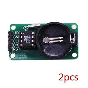Republe 2ST / Set High Precision RTC DS1302 Modul Zeitschaltuhr Speicherplatine Beats für Arduino-Modul-Brett