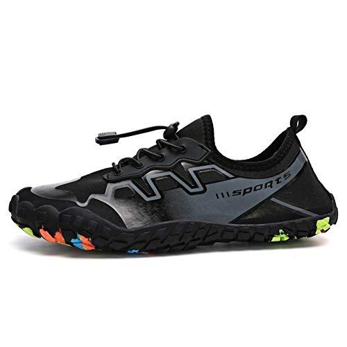 Huaxinyitech Quick Dry Wanderschuhe Herren Damen Schuhe Klettern Trekking Sneakers rutschfeste Slip-on Beach Watschuhe (Color : Schwarz, Größe : 11) (Slip On Sneakers Größe 11)