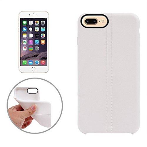 iPhone Case Cover Pour iPhone 7 Plus Central Doubles Lignes Surface Douce TPU Housse de Protection ( Color : Apricot ) White