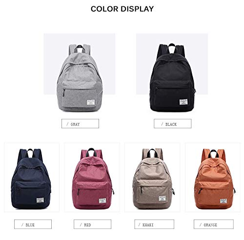 Diswa Classical Unisex Backpack for Women Nylon Child School Bag Special Use for Picnic 30 * 40 * 16 cm (Navy Blue) Image 5