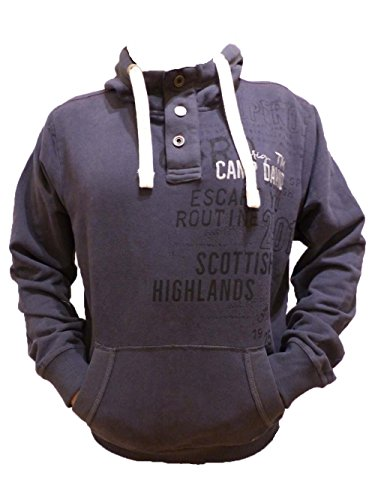 CAMP DAVID SWEATSHIRT WITH HOOD SCOTTISH HIGHLANDS I CHARCOAL CCG-1707-3788 M L XL XXL XXXL (XL)
