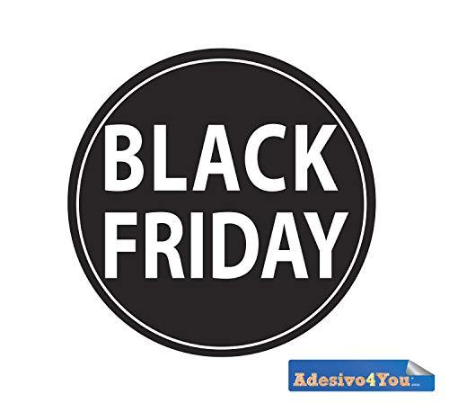 adesivo vetrofania negozio black friday saldi sconti promozione adesivo venerdi nero Adesivo4You.com (Large 55x55 cm.)