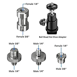 Muscccm-21-Stck-Gewindeschraube-14-auf-38-Schraube-Stativkopf-Kugelkopf-14-auf-14-Zoll-Schraube-mit-Edelstahl-Material-fr-StativEinbeinstativSchnellwechselplatte