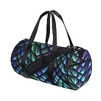 Plsdx Chinese Dragon Scale Metallic Texture Custom Multi Lightweight Large Yoga Gym Totes Handbag Travel Canvas Duffel Bags With Shoulder Crossbody Fitness Sports Luggage For Boys Girls Mens Womens