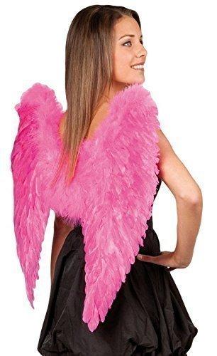 rot pink echt Rainbow Feder Engel Fee Wings Kostüm Kleid Outfit Zubehör - Rosa, One size (Rote Fee-kostüme Für Erwachsene)