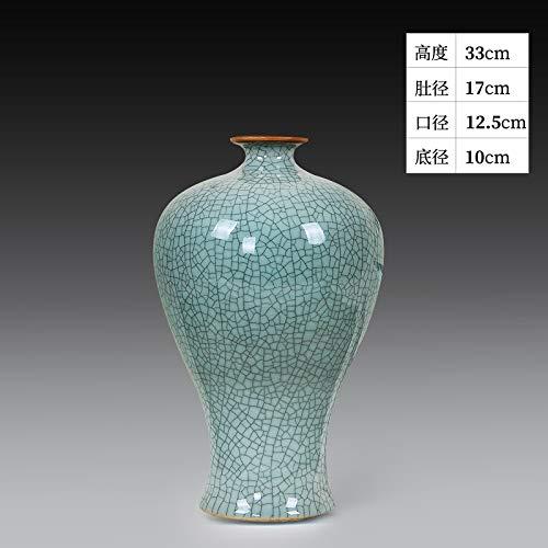 suxiaopei Jingdezhen Keramik Vase Ornamente Wohnzimmer Arrangiert Blumen Nachahmung Klassische Offizielle Brennofen Chinesischen Stil Dekoration Handwerk Porzellan pflaumenflasche ohne Boden 21x31 cm -