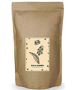 KoRo - BIO Chia Samen | 1 kg, Aus Kontrolliert Biologischem Anbau, Naturbelassen, Superfood Ohne Zusätze,1kg Packung