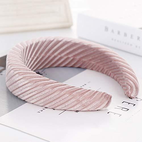 strimusimak Einfarbig Kopfband Gestreift Kopfbedeckung Schwamm Schaum Weich Haarband Kopfband Für Frauen Mädchen Haar Dekor Schwarz -