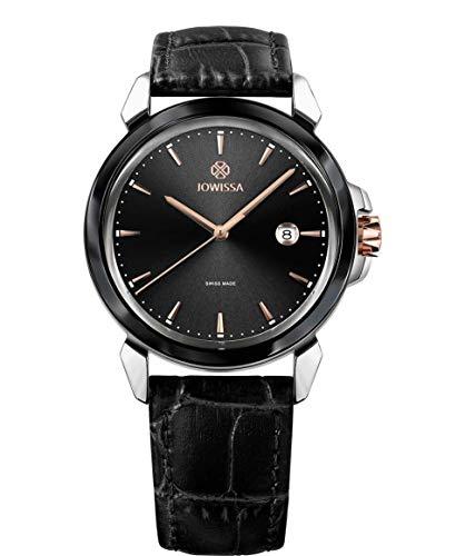 Jowissa LeWy 3 Swiss J4.239.L - Reloj para Hombre, Color Negro y Plateado