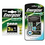 Energizer Accu Recharge Pro Charger With 4 AA 2000mAh Rechargable Batteries + 4 x 850mAh AAA Batteries