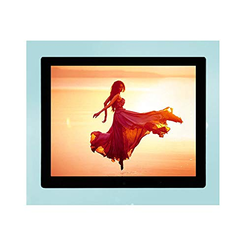Mhwlai 15-Zoll-Digitalfotorahmen, an der Wand montierter Digitalfotorahmen Elektronisches Fotoalbum Unterstützung für Vollformat Gehärtetes Glas (schwarz)