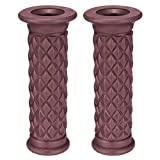 PeroFors 7/8Inch Universal Motorcycle Cafe Racer Classic Rubber Handlebar Hand Grips Bar-Brown