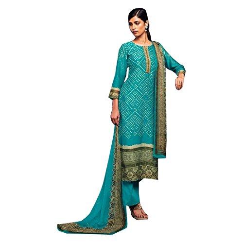 SkyBlue Salwar Kameez Frauen Kleid Bollywood Shalwar Rakhi Eid Formelle Neue Indische Pakistanische Gerade Kamiz Anzug Kurti Mädchen Top Gerade Hose 702 -