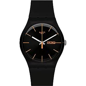Swatch SUOB704 – Reloj analógico de Cuarzo Unisex con Correa de plástico, Color Negro