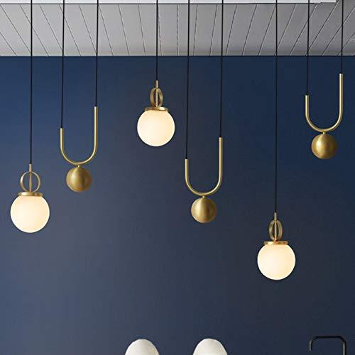 FANGYN Moderne Galvanik Bronze dehnbar Glas Pellet Kronleuchter Schlafzimmer Machine Head Wohnzimmer Coffee Shop