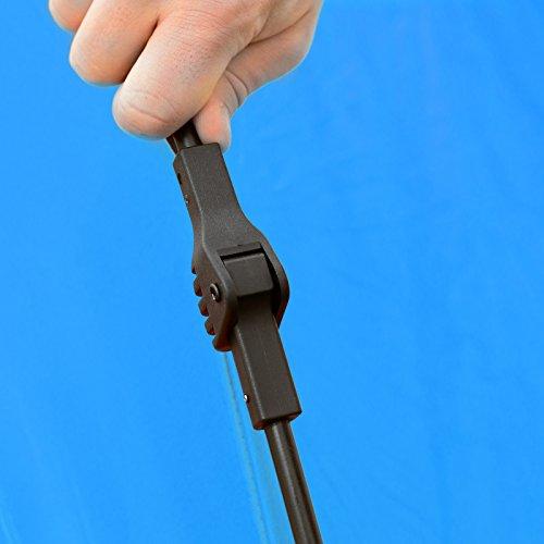 Qeedo Strandmuschel Quick Palm - Blau mit UV-Schutz (UV80 nach UV-Standard 801) - kleines Packmaß - schnell aufzubauender Sonnenschutz - 7