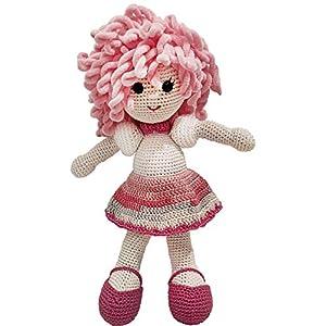 LOOP BABY - gehäkelte Puppe - handgemachte Spielzeug-Puppe in rosa/pink - Mädchen-Geschenk für Geburt, Geburtstag, Taufe - Einschlafhilfe & Kuscheltier