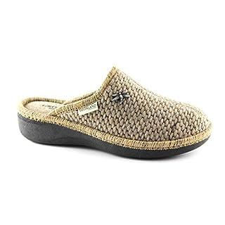Grunland GRÜNLAND ALDE CI1221 Beige Tuch Pantoffeln Frauen 42
