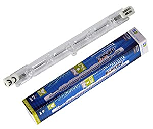 2 Pack Lighting 230W = 300W Eco Halogen R7s J118 Energy Saving Linear Halogen Floodlight Security Light Bulbs 118mm Length, 4650 Lumen, 240V Dimmable Tabular Tungsten Lamps [Energy Class C] from Cambridge Lifestyle