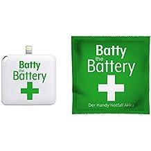 Batty One 2 pz. Batteria di emergenza per iPhone 1000 mAh bianco con spina fulmini anche per iPad iPod iOS Powerbank Powerbank batteria esterna Batteria Air Pro iPhone SE 6 7