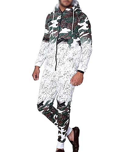 Herren Camouflage Sportanzug Jogginganzug Trainingsanzug Fitnessanzug Freizeitanzug,Mode Jogging Sportswear-Set ()