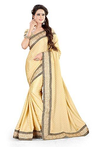 Shree Sanskruti Self Design Saree with Lace Border