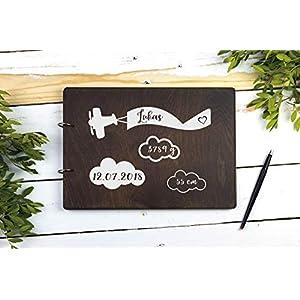 Personalisiertes Babyalbum Holz Fotoalbum Babyfotoalbum Geschenk zur Geburt