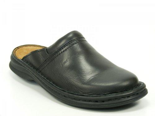 Josef Seibel Schuhe Herren Pantoletten Clogs Max Glatt Leder schwarz 1066337600, Schuhgröße:45;Farbe:Schwarz