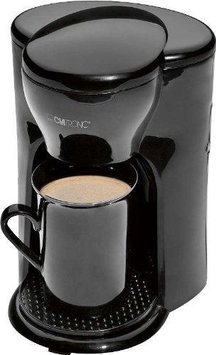 Ein Tassen Kaffeemaschine (Ein Personen Kaffeeautomat inklusive Keramik Becher, rutschfeste Abstellfläche, Permanent Nylon Filter)