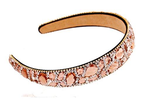 Diamant Morte Hoop larges bords Cristal Bandeau confortable