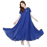 فستان من البوليستر ازرق اللون للمناسبات الخاصة للنساء