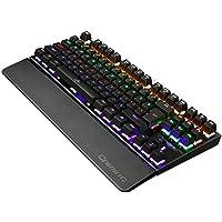 لوحة مفاتيح للألعاب K28 LED بإضاءة خلفية ميكانيكية ملونة LED يو إس بي لوحة مفاتيح ألعاب يو إس بي سلكية USB لوحة مفاتيح ألعاب الكمبيوتر 26 مفتاحًا لوحة مفاتيح مضادة للتشبيح