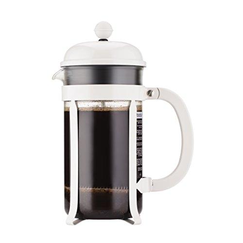 BODUM - 1928-913 - CHAMBORD - Cafetière à piston - 8 tasses - 1.0 L - Blanc