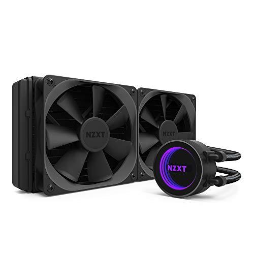 NZXTKrakenX52 240mm - All-In-One RGB-CPU-Wasserkühlung - CAM-Unterstützung - Infinity Mirror Design - Hochleistungspumpe - Verstärkte, verlängerte Schläuche - 120mm AerP-Radiatorlüfter -