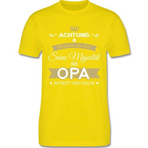 (Opa - Seine Majestät der Opa - S - Lemon Gelb - L190 - Herren T-Shirt Rundhals)